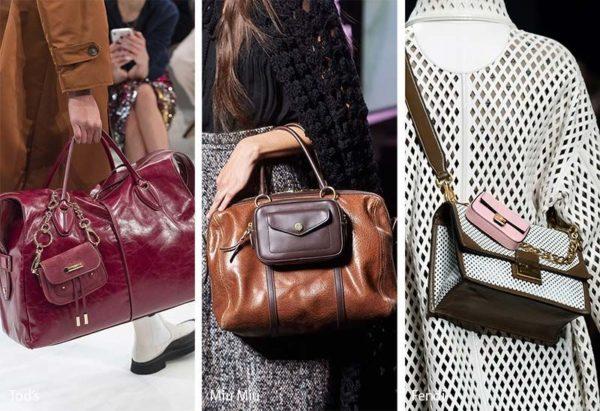 Стильный осенний двойной комплект дамских сумочек